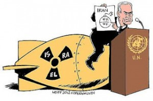 Israeli Prime Minister Benjamin Netanyahu drew a red line UN